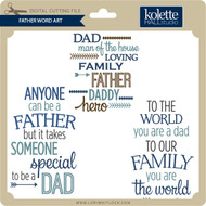 Father Word Art