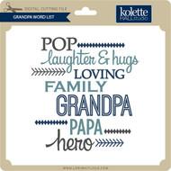 Grandpa Word List