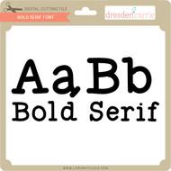 Bold Serif Font