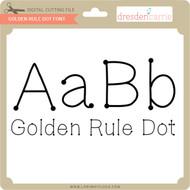 Golden Rule Dot Font