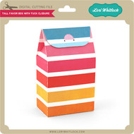 Tall Favor Box With Tuck Closure