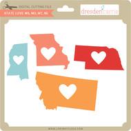 State Love ms mo mt ne