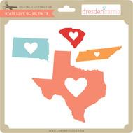 State Love sc sd tn tx