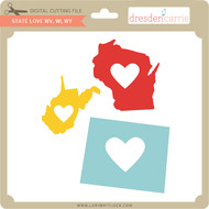 State Love wv wi wy