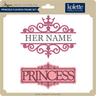 Princess Flourish Frame Set