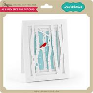 A2 Aspen Tree Pop Dot Card