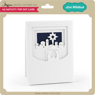 A2 Nativity Pop Dot Card