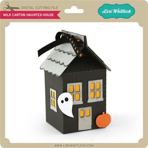 Milk Carton Haunted House - Lori Whitlock\'s SVG Shop