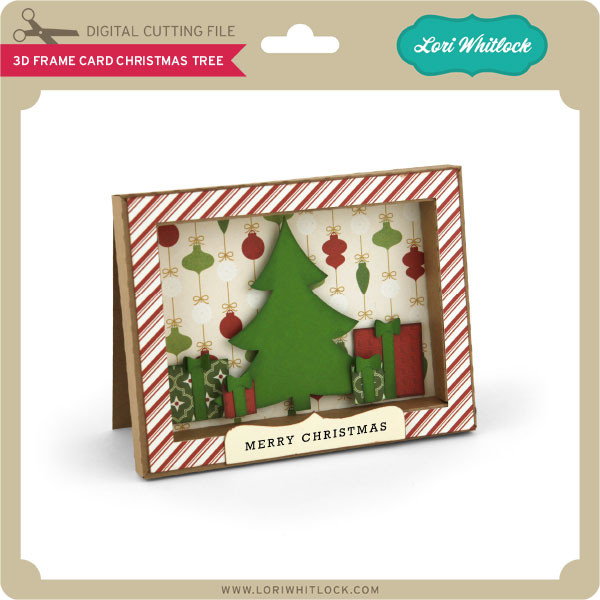 Christmas Tree Shop Picture Frames: 3D Frame Card Christmas Tree