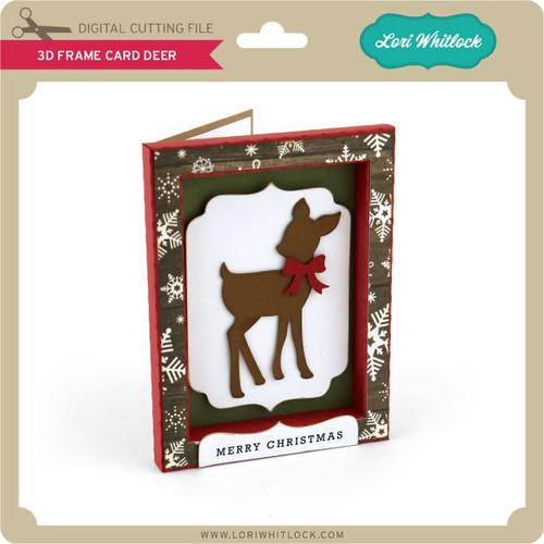 3D Frame Card Deer - Lori Whitlock\'s SVG Shop
