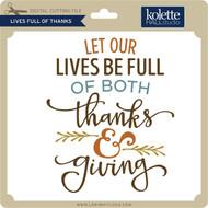 Lives Full of Thanks