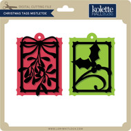 Christmas Tags Mistletoe