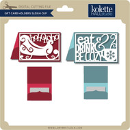 Gift Card Holders Sleigh Cup