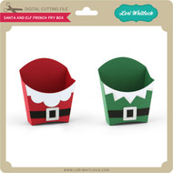 Santa and Elf French Fry Box