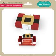 Santa Gift Card Holder Box