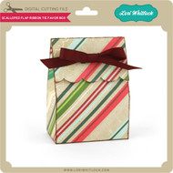 Scalloped Flap Ribbon Tie Favor Box