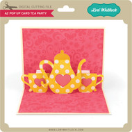 A2 Pop Up Card Tea Party