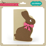 5x7 Chocolate Easter Bunny Card