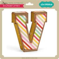 3D Alphabet Letter V