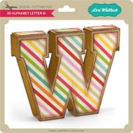 3D Alphabet Letter W