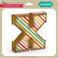 3D Alphabet Letter X