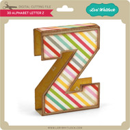 3D Alphabet Letter Z