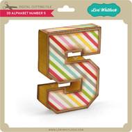 3D Alphabet Number 5