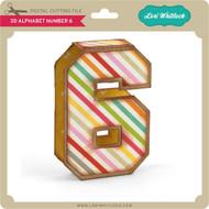 3D Alphabet Number 6
