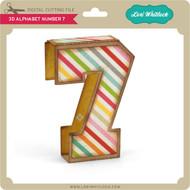 3D Alphabet Number 7