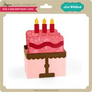 Box Card Birthday Cake