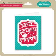 A2 Card Cutout Happy Birthday