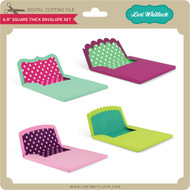 6.5 inch Square Thick Envelope Set