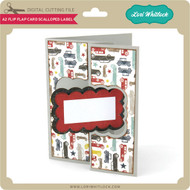 A2 Flip Flap Card Scalloped Label