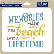Memories Made at Beach