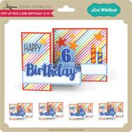 Pop Up Box Card Birthday 6-10