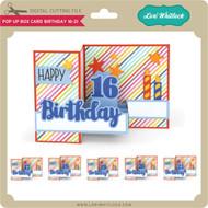 Pop Up Box Card Birthday 16-21
