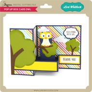 Pop Up Box Card Owl
