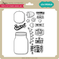 Print and Cut Stamps Mason Jar