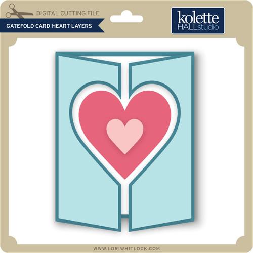 Gatefold Card Heart Layers Lori Whitlock S SVG Shop