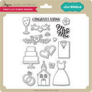 Print & Cut Stamps Wedding