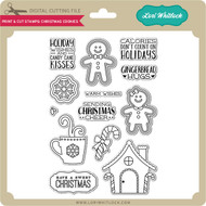 Print & Cut Stamps Christmas Cookies