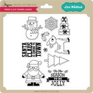Print & Cut Stamps Santa