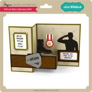 Pop Up Box Card Military