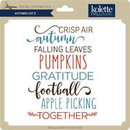 Autumn List 2