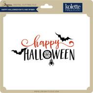 Happy Halloween Bats and Spider
