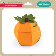 3D Pumpkin Medium