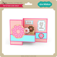 Pop Up Box Card Donut