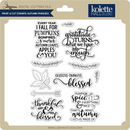 Print & Cut Stamps Autumn Phrases
