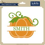 Simple Pumpkin Split Label