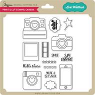 Print & Cut Stamps Camera